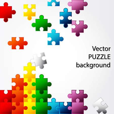 Colorful Puzzle vector design