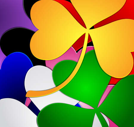 Colorful clover background Vector