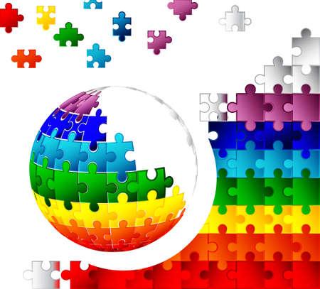 domination: 3d puzzle globe design