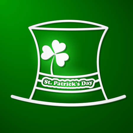 St  Patricks Day card with symbols Vector