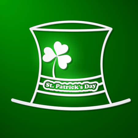 St  Patricks Day card with symbols