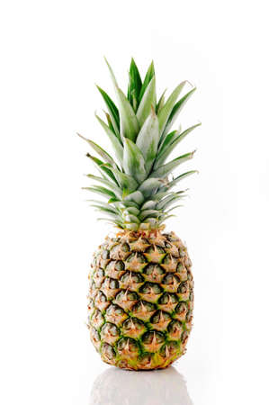 pineapple: Whole pineapple isolated on white Stock Photo