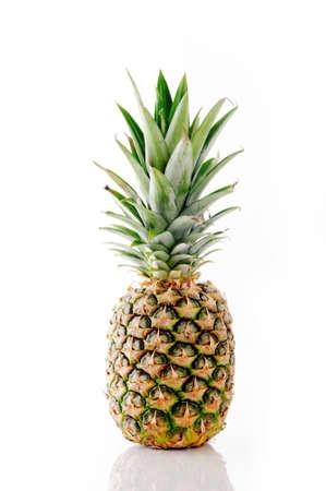 Whole pineapple isolated on white Standard-Bild