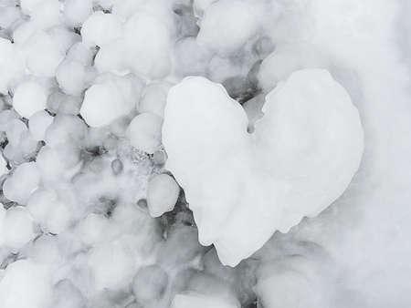 Heart shape from ice