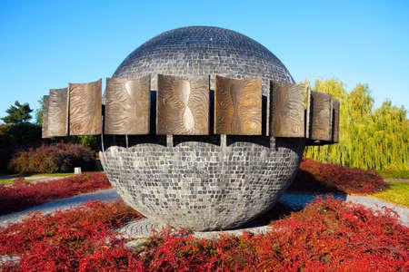 torun: Sundial -500 th anniversary of Copernicus in Torun,Poland