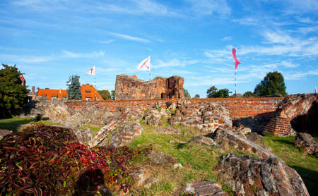 teutonic: Teutonic castle-monument in Torun,Poland Stock Photo