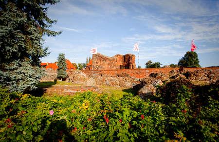 teutonic: Castello teutonico-monumento a Torun, Polonia