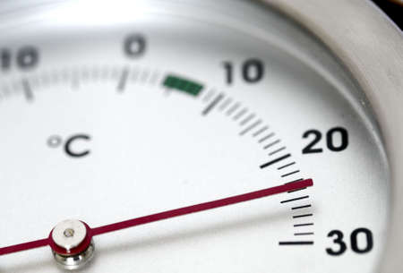 Thermometer showing 24 degress celsius photo