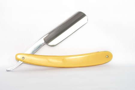 Old fashioned straight razor photo