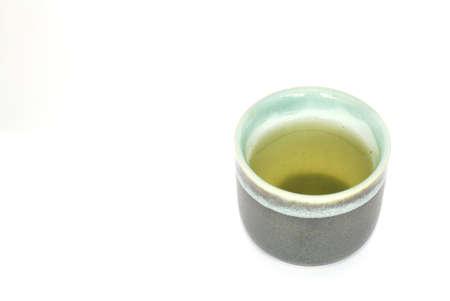 sencha: Green Tea in a Japanese Tea Cup Stock Photo