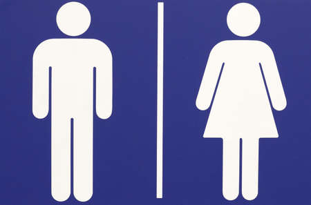 sexes: Male and female sign, battle of the sexes Stock Photo