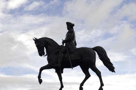 george washington: La estatua de bronce de George Washington, dise�ado por Thomas Ball en los comunes de Boston, se erigi� en 1869.