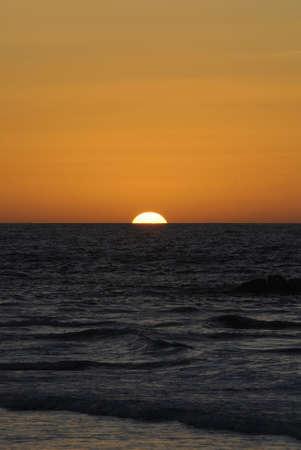 Sunset at the beach in Tel Aviv, Israel Stock Photo - 7120620