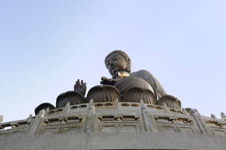 The Tian Tan Buddha is the tallest outdoor bronze seated buddha statue located on Ngong Ping, Lantau Island, Hong Kong Stock Photo - 8937776