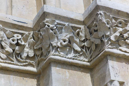 christ church: Details of a building at Christ Church Oxford UK