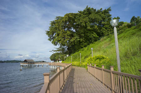 Board walk along Changi Beach located at the eastern part of Singapore Stock Photo - 11138959