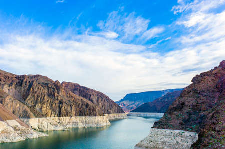 mead: Lake Mead at Hoover Dam Stock Photo
