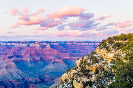 south rim: South Rim at Grand Canyon National Park at Sunset