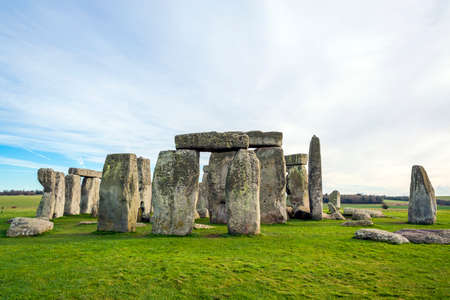 wiltshire: Stonehenge, located at Wiltshire, England. One of the UNESCO World Heritage sites Stock Photo