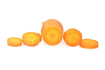 fresh carrots round slices photo