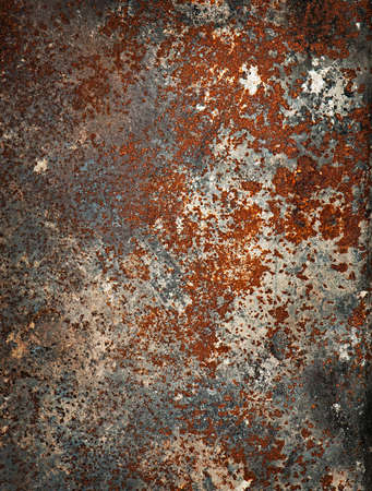 oxidate: Metal surface with rust and corrosion. Grunge texture. Stock Photo