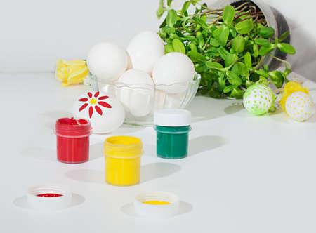 Arbeitsplatz Farbe Farbstoff Farbton Malerei Malen Schreibtischjob ...