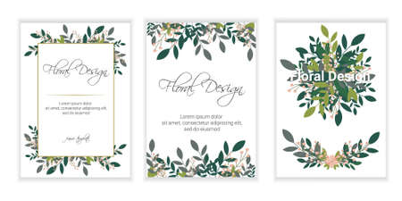 Wedding Invitation, floral invite card Design: Peach lavender pink garden Rose, succulent, wax, eucalyptus, green palm leaves, forest fern greenery geometric golden frame print. Vector cute copy space 矢量图像
