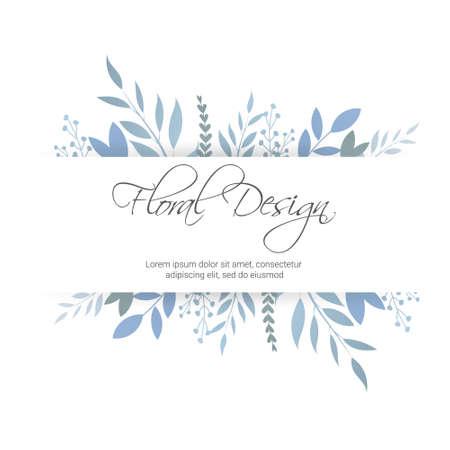 Banner on flower background. Wedding Invitation, modern card Design. eps 10. Illustration