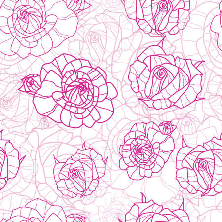 rose pink outline gradient textured seamless pattern, great for wallpaper, fabric, bookscraping. Vectores
