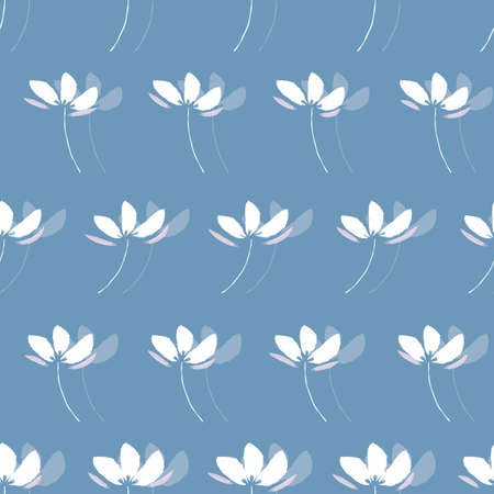 watercolor floral monochrome seamless pattern design. great for wallpaper, wrapping paper, textile