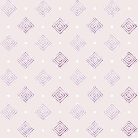 square diamond shape and dot seamless vector pattern design Ilustración de vector