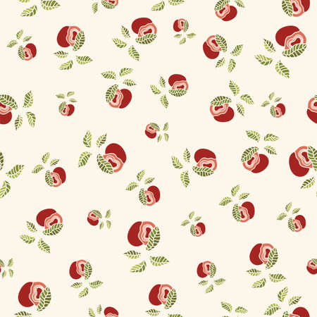Apple fruit abstract seamless pattern background design