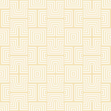 abstract geometric white square, line seamless pattern on white background vector design