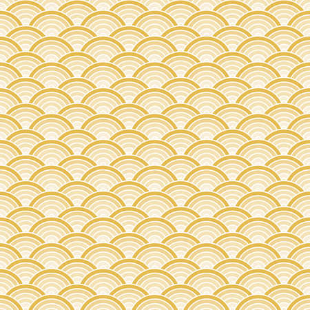 abstract geometric fish scale scallop overlapping seamless pattern, vector design Illustration