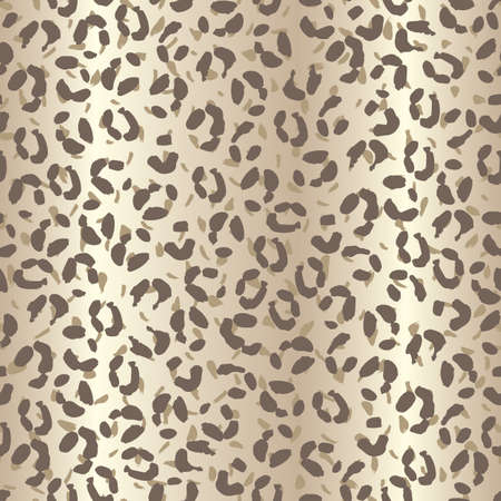 Seamless leopard skin spotted pattern with beige brown textured gradient background.