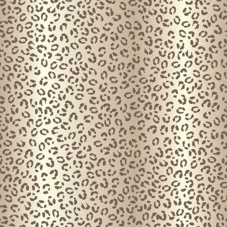 Seamless leopard spotted skin pattern with beige brown textured gradient background.