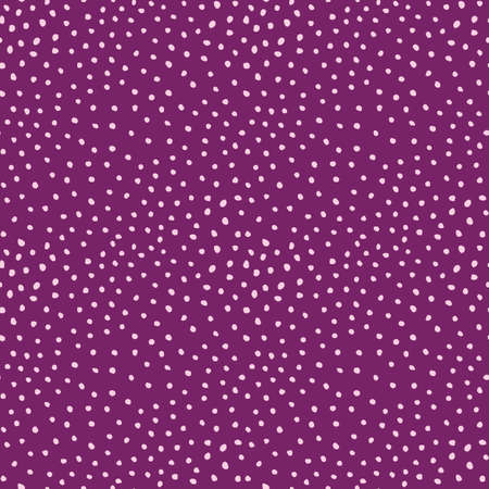 Doodle seamless pattern of hand drawn dot textured purple background