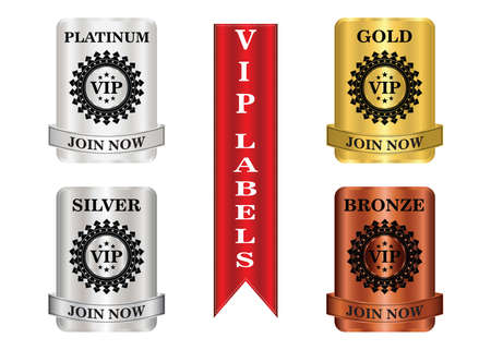 VIP membership labels that can be used for membership plan deals or promotion.