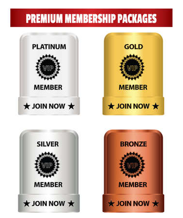 Premium membership packages label that can be used for membership plan deals or promotion.