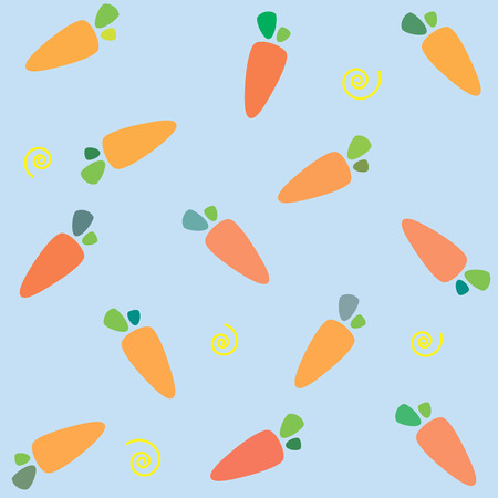 Pattern carrots. Carrot seamless pattern. Carrots for your design  Illustration.