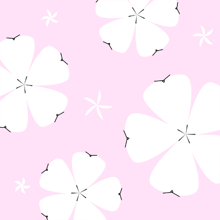seamless summer  floral pattern on pink  background