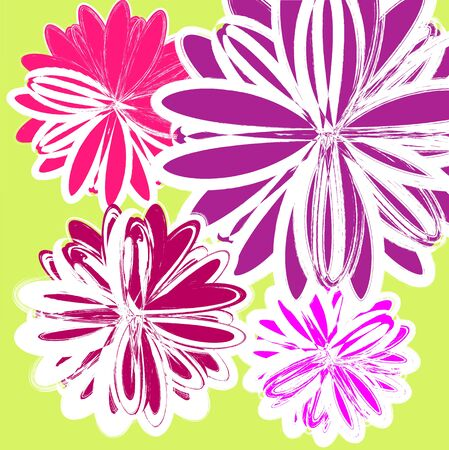 floral pattern in bright colors