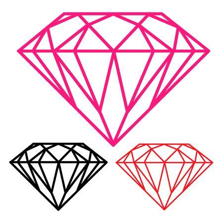 diamond stones: The diamond silhouette. illustration on white background