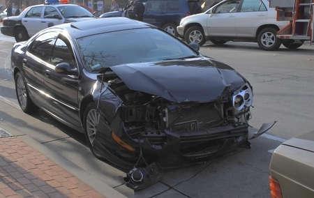 crashed: Crashed car
