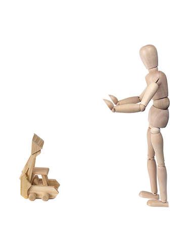 figurines: Wooden figurines Stock Photo