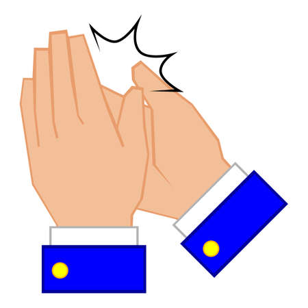 clapping: Cartoon human hand clapping