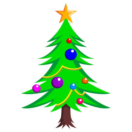 decorated christmas tree: A ready decorated christmas tree