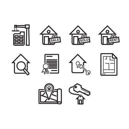 sertificate: A collection of real estate themed icon