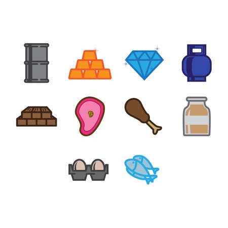 commodities: A collection of commodities themed icon
