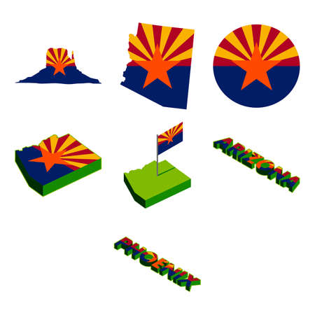 arizona: A collection of arizona state themed icon